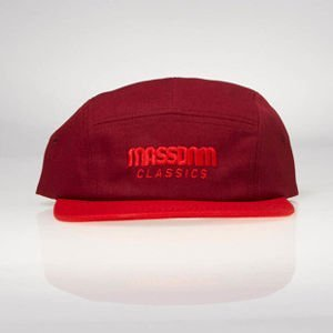 Strapback Mass Denim 5 Panels Cap Classic Cut claret / red SS 2017