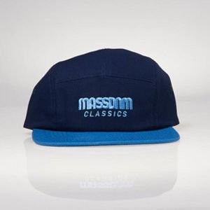 Strapback Mass Denim 5 Panels Cap Classic Cut navy / blue SS 2017