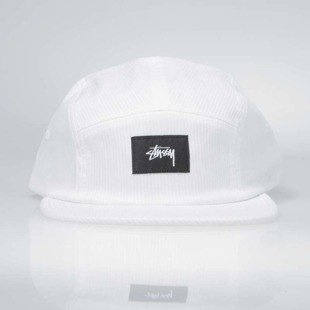 Stussy 5Panel Seersucker Camp Cap white