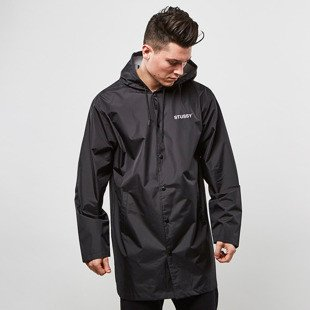 Stussy Long Hooded Coach Jacket black