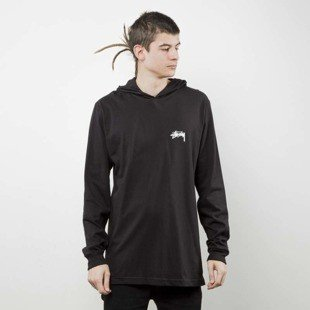 Stussy Original Stock LS Hood Tee black