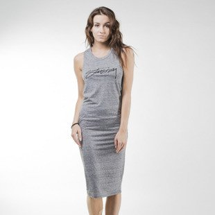 Stussy Smooth Stock Maxi Dress grey heather