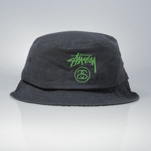 Stussy bucket hat Stock Lock Pigment Dye black