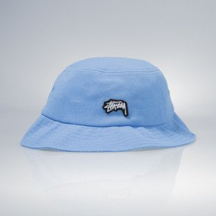 Stussy bucket hat Stock Logo Pique blue