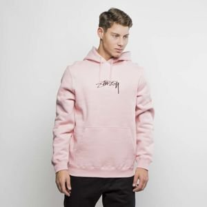 Stussy crewneck Smooth Stock App Hood dusty rose FW17