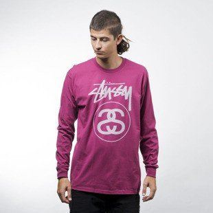 Stussy longsleeve Stock Link Ls Tee grape