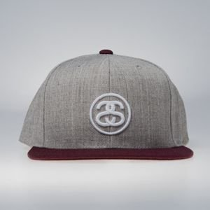 Stussy  snapback SS - Link FA17 Cap grey heather