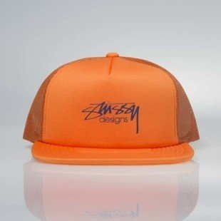 Stussy  snapback Smooth Stock Trucker Cap orange