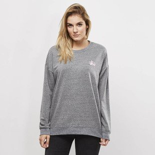 Stussy sweatshirt Puff Stock Crew grey heather WMNS