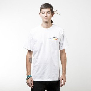 Stussy t-shirt Color Bar white
