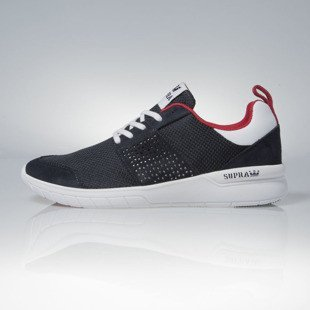 Supra sneakers Scissor navy / red - white (08027-419)