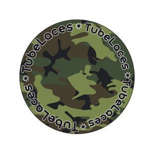 Tubelaces Special 120cm camo green 10462