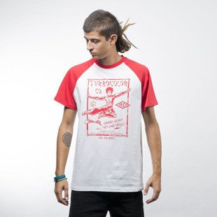 Turbokolor Bruce Tee white / red