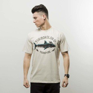 Turbokolor t-shirt Shark Vintage beige
