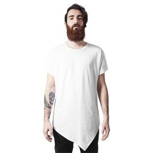 Urban Classics Asymetric Long Tee white