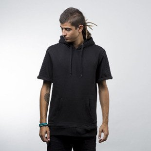 Urban Classics Herren Short Sleeve Side Zipped Hoody black (TB1108)