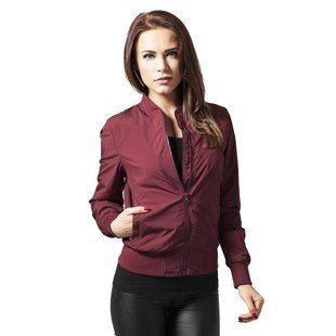 Urban Classics Ladies Light Bomber Jacket WMNS burgundy
