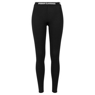 Urban Classics Ladies Logo Leggings WMNS black
