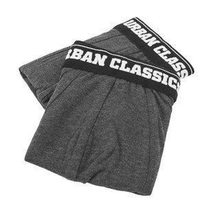 Urban Classics Men Boxer Shorts Double Pack charcoal / charcoal