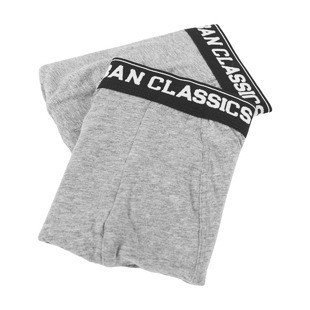 Urban Classics Men Boxer Shorts Double Pack grey / grey