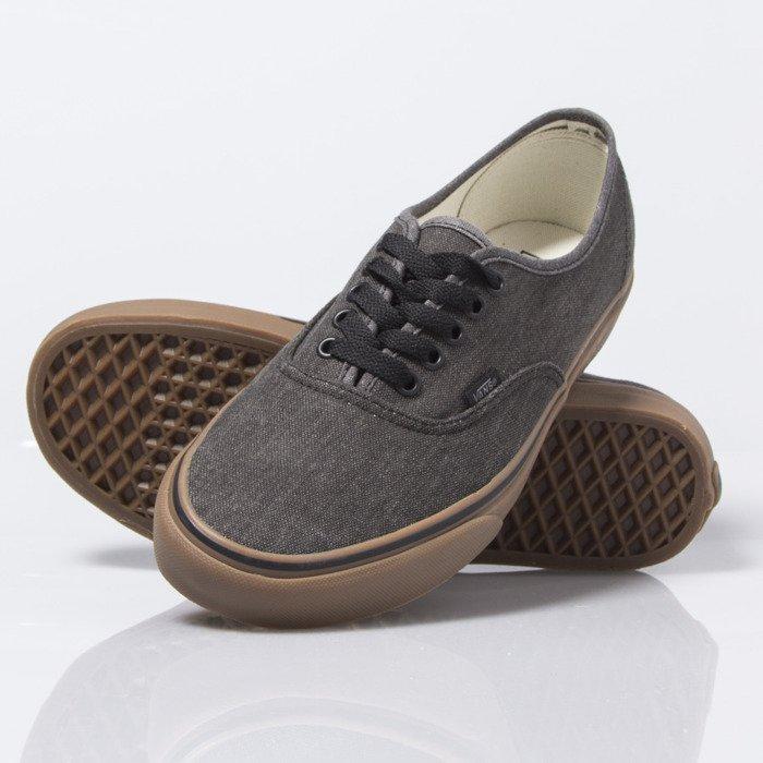 18ec3fad46 vans authentic black over washed canvas shoes