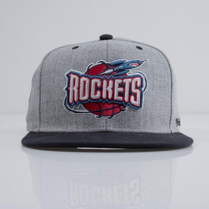 Houston Rockets Mitchell And Ness: Mitchell & Ness Cap Snapback Houston Rockets Heather Grey