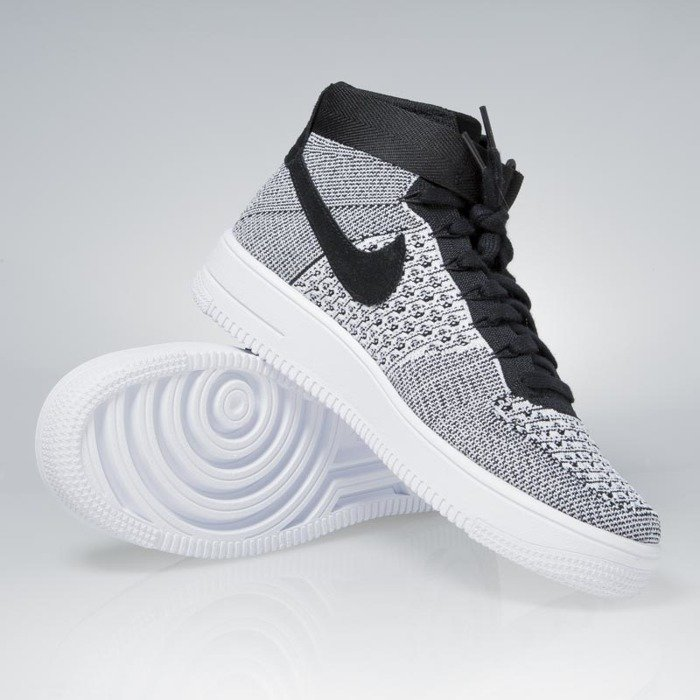 ... Nike Air Force 1 Ultra Flyknit Mid black  black-white 817420-005 ...