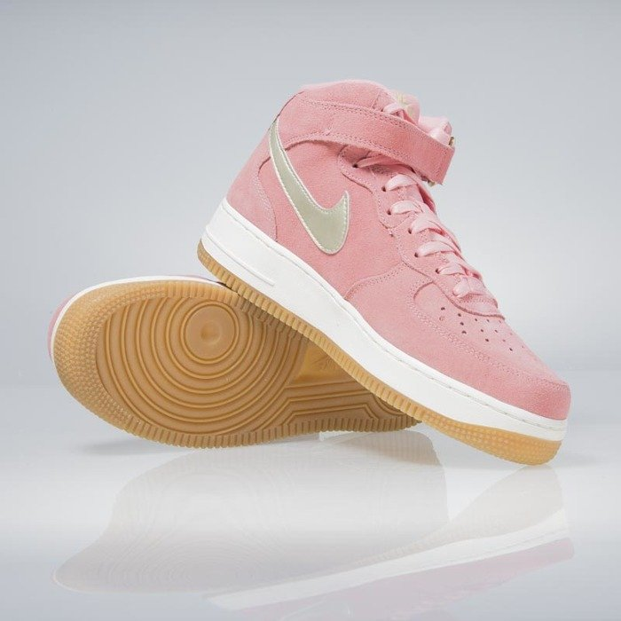 Nike WMNS Air Force 1 '07 Mid Seasonal bright melon metalic gold star 818596