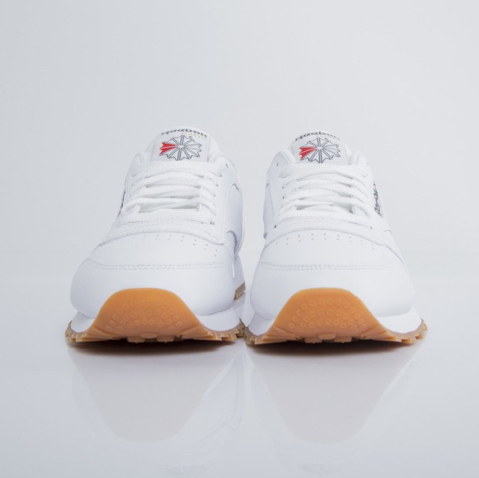 buty reebok classic leather white gum