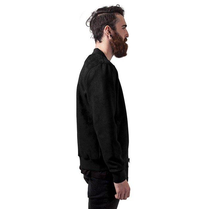 urban classics jacket imitation suede bomber jacket black. Black Bedroom Furniture Sets. Home Design Ideas