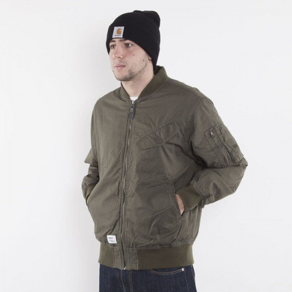 Addict jacket Pilot olive / orange