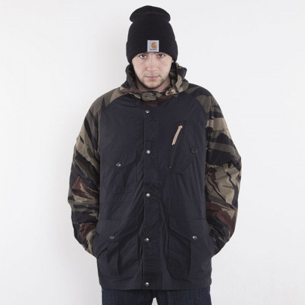 Addict jacket Raf Field black / bush forest camo