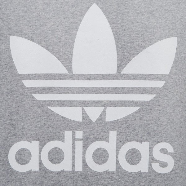 Adidas Originals sweatshirt Trefoil Crew grey heather (AY7792)
