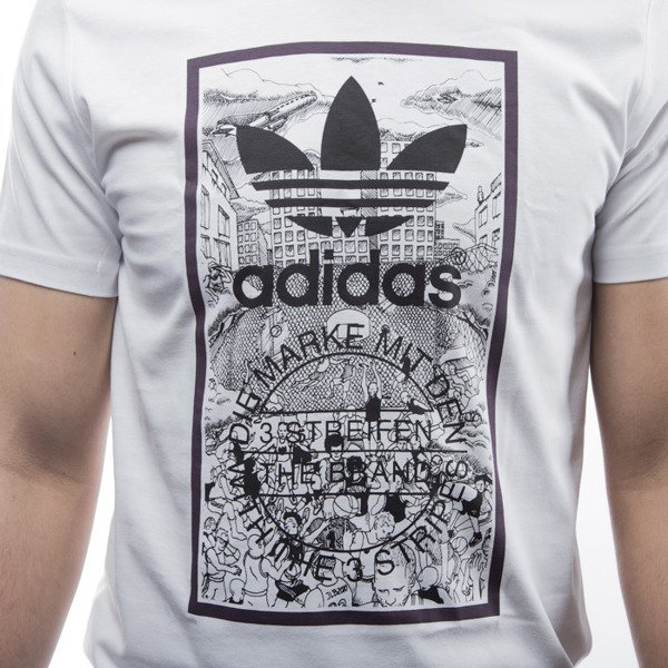 Adidas Originals t-shirt Handdrawn Bb T white (AJ7141)