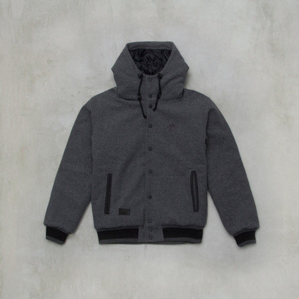 Backyard Carte jacket Baseball Back grey heather