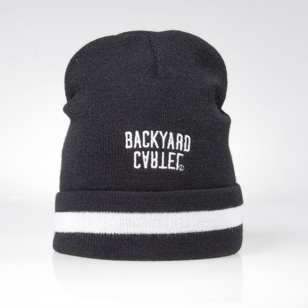 Backyard Cartel Half Stripes beanie hat black