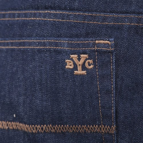 Backyard Cartel Pants Jeans BYC Logo tapered fit rinse