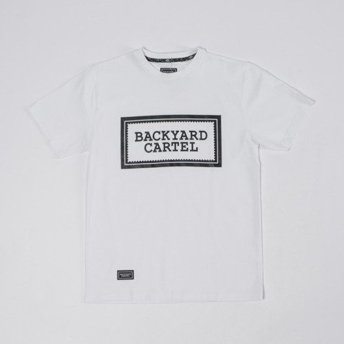 Backyard Cartel T-shirt Label Logo white