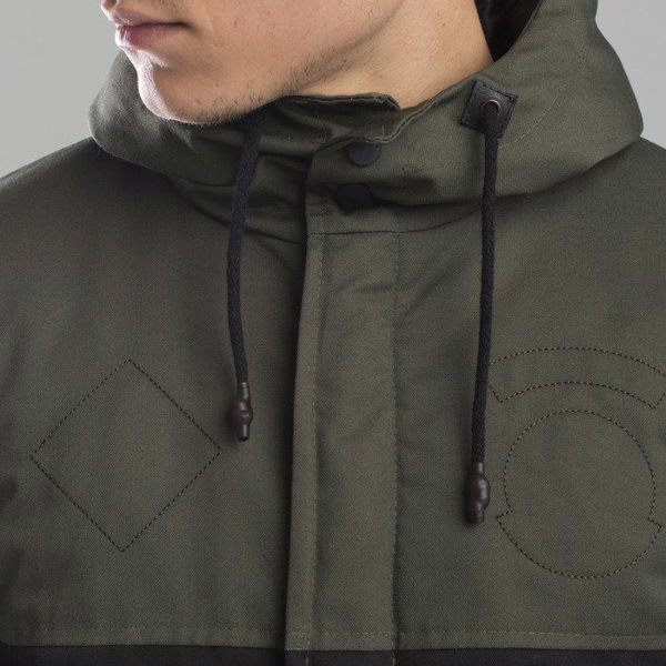 Backyard Cartel jacket Parka Long khaki / black