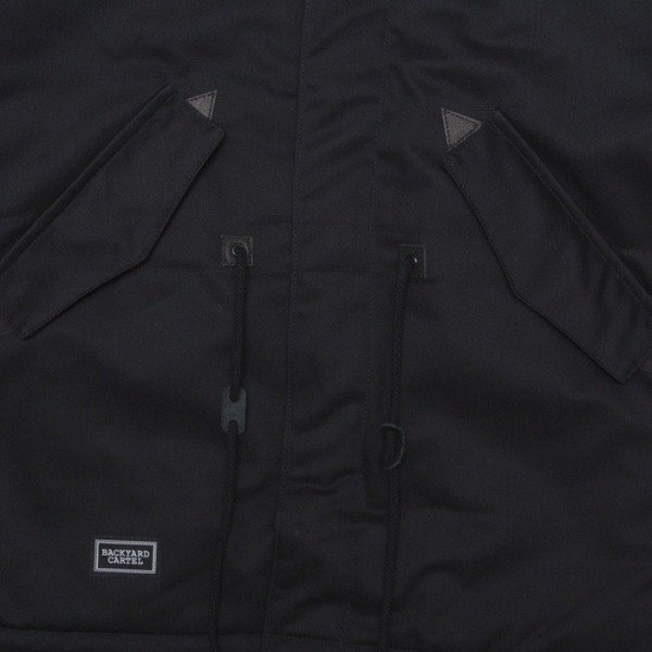 Backyard Cartel jacket Parka black