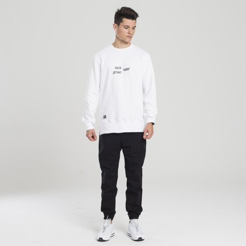 Backyard Cartel sweatshirt Broken crewneck white