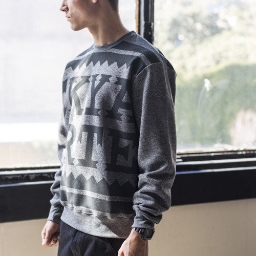 Backyard Cartel sweatshirt Damn crewneck grey heather