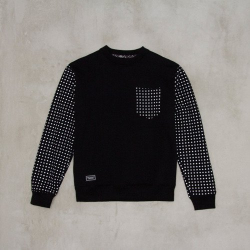 Backyard Cartel sweatshirt Dots Sleeve crewneck black