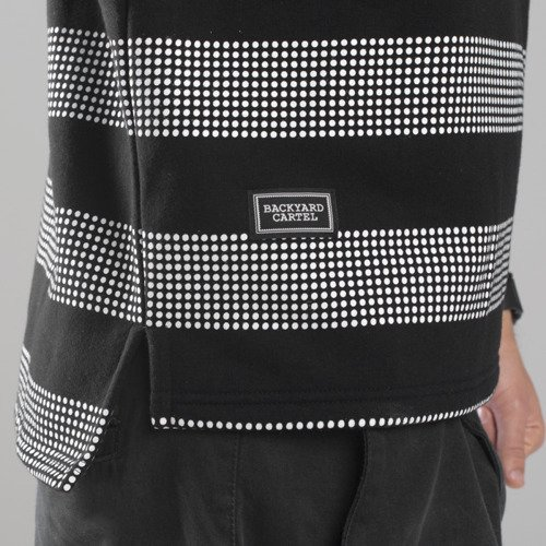 Backyard Cartel sweatshirt Dots Stripes crewneck black