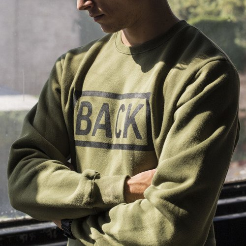 Backyard Cartel sweatshirt Inset crewneck khaki