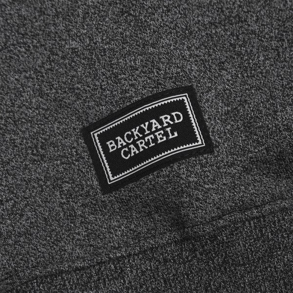 Backyard Cartel sweatshirt Label Logo Crew  heather grey