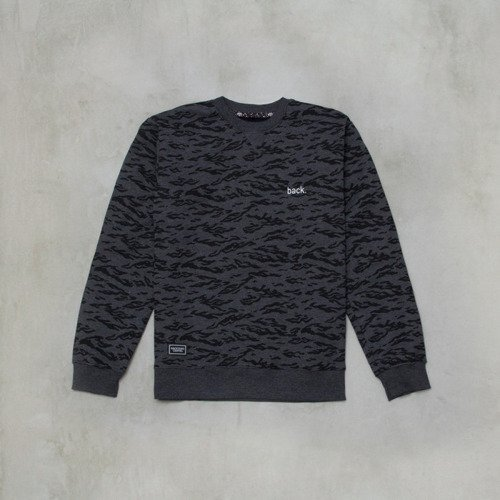 Backyard Cartel sweatshirt Terra crewneck dark grey heather
