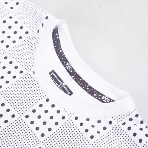 Backyard Cartel t-shirt Dots Checker Pocket white