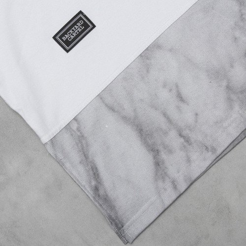 Backyard Cartel t-shirt Marble Long white