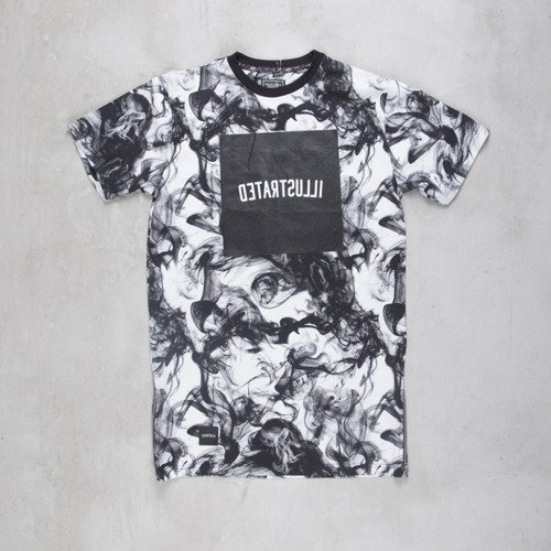 Backyard Cartel t-shirt Smoke long fit multicolor Illustrated